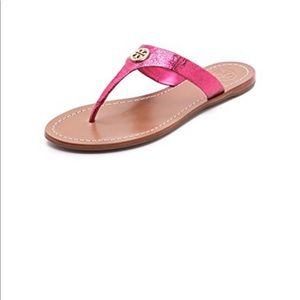 9fbc2c01b950 Tory Burch Cameron Thong Sandals Metal Pink 8